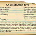 Cheeseburger Buns