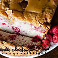 Raspberry Pound Cake with Caramel Glaze