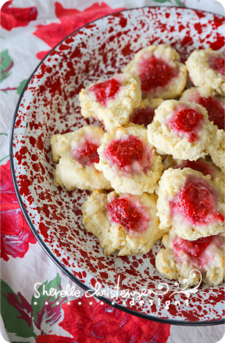 Raspberry Drop Biscuits