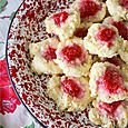 Raspberry Breakfast Drop Biscuits