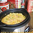 Ham&Cheese Scalloped Potatoes in the Slow Cooker