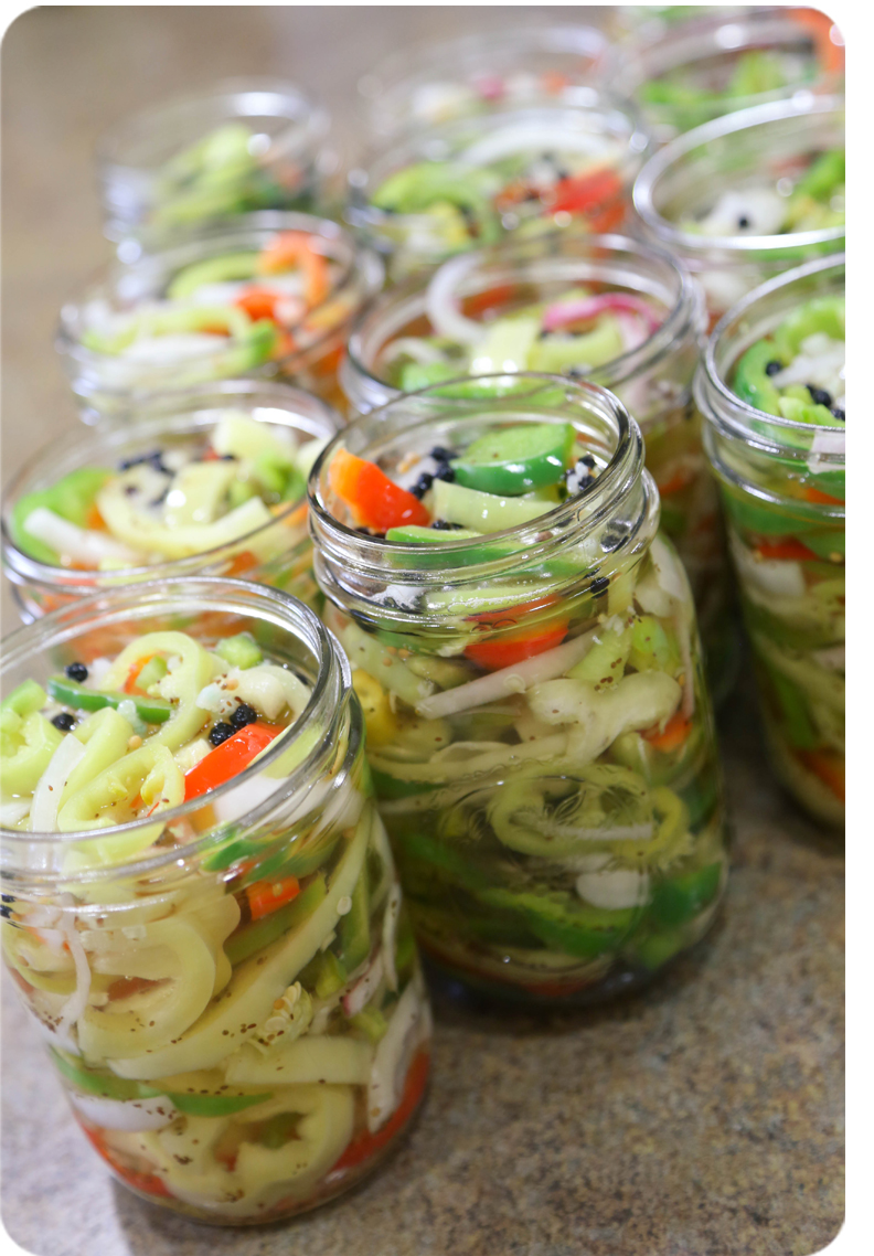 Sweet & Sour Pickled Banana Peppers 10